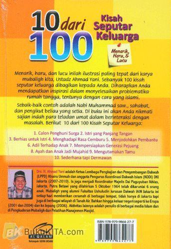 Cover Belakang Buku 10 dari 100 Kisah Seputar Keluarga