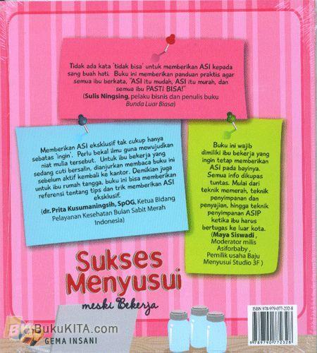 Cover Belakang Buku Sukses Menyusui Meski Bekerja