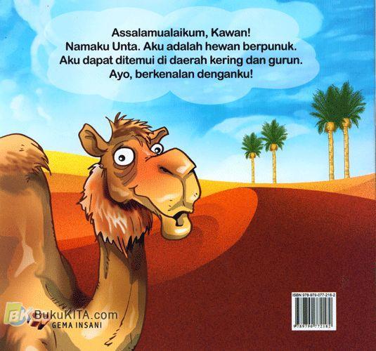 Cover Belakang Buku Seri mengenal Hewan : Cerita si Unta