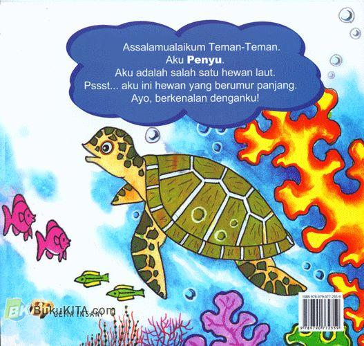 Cover Belakang Buku Seri Mengenal Hewan : Cerita si Penyu
