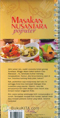 Cover Belakang Buku Masakan Nusantara Populer