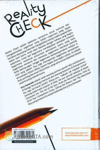 Cover Belakang Buku Reality Check : Panduan Blak-blakan untuk Mengungguli Pesaing Bisnis