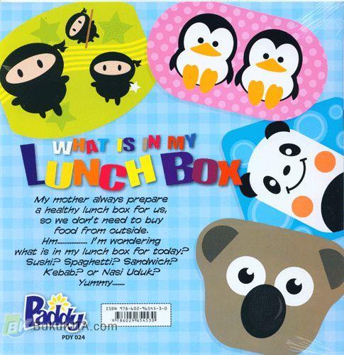 Cover Belakang Buku My Lunch Box