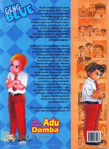 Cover Belakang Buku Geng Blue : Gara-Gara Adu Domba