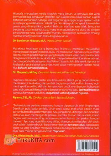 Cover Belakang Buku Spiritual Hypnosis : Cara Belajar Hipnosis Praktis, Mudah, dan Aman dari SIHIR