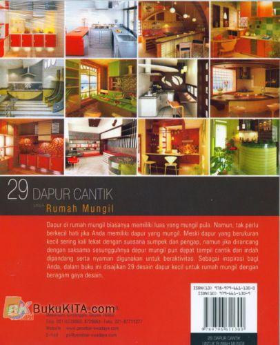 Cover Belakang Buku 29 Dapur Cantik untuk Rumah Mungil