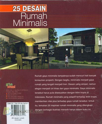Cover Belakang Buku 25 Desain Rumah Minimalis