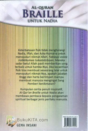Cover Belakang Buku Al-QURAN BRAILLE UNTUK NADIA