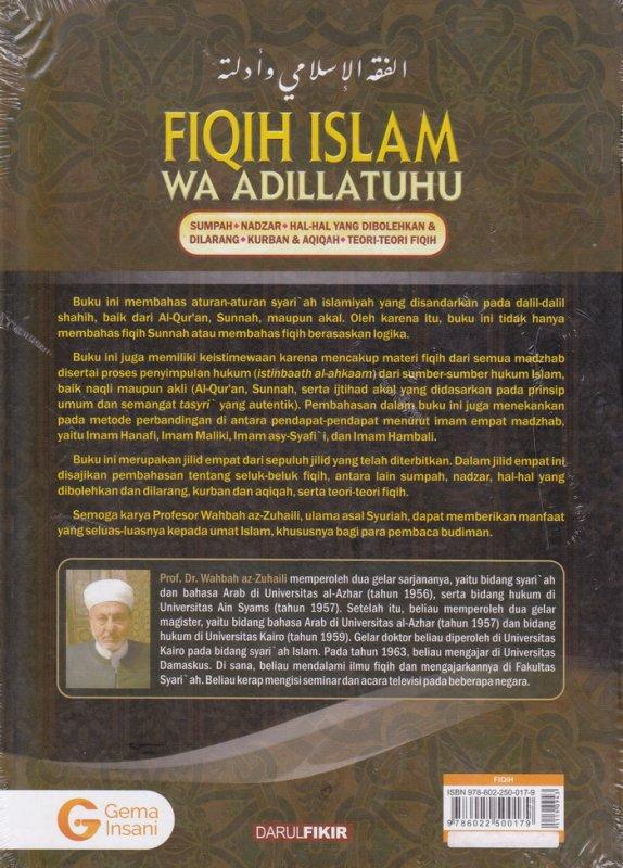 Cover Belakang Buku FIQIH ISLAM (WA ADILLATUHU) #4