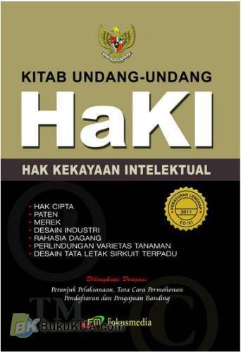 Cover Buku Kitab Undang-undang Hak Kekayaan Intelektual (HaKI)