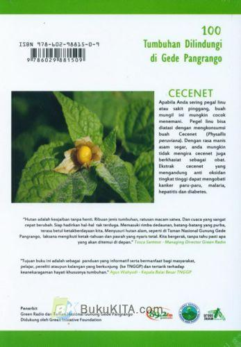 Cover Belakang Buku Seratus Tumbuhan Dilindungi di Gede Pangrango (Disc 50%)