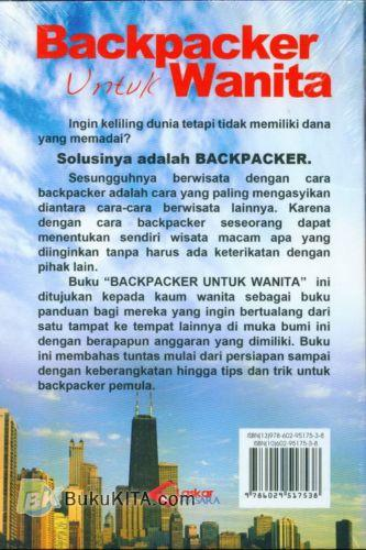 Cover Belakang Buku Backpacker Untuk Wanita