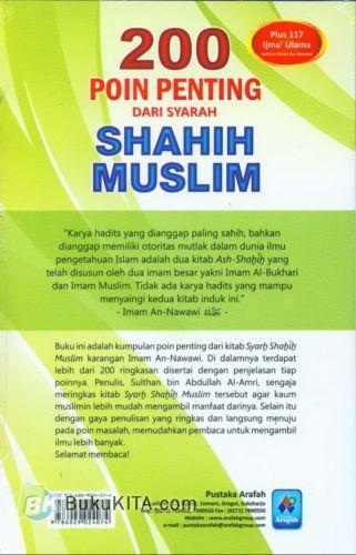 Cover Belakang Buku 200 Poin Penting Dari Syarah Shahih Muslim