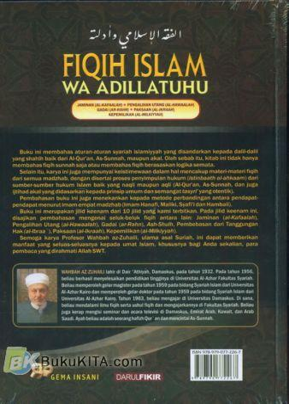Cover Belakang Buku FIQIH ISLAM (WA ADILLATUHU) #6