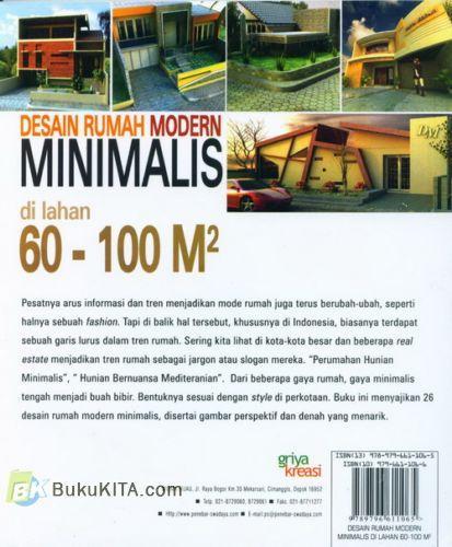 Cover Belakang Buku Desain Rumah Modern Minimalis di lahan 60-100M2