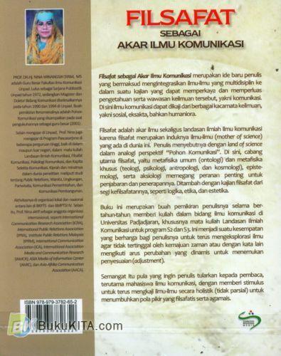 Cover Belakang Buku Filsafat Sebagai Akar Ilmu Komunikasi
