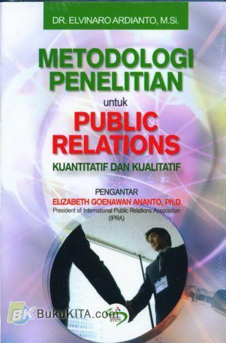 Cover Buku Metodologi Penelitian untuk Public Relations - Kuantitatif dan Kualitatif