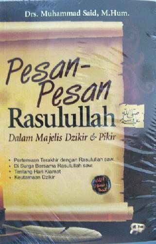 Cover Buku Pesan-Pesan Rasulullah Dalam Majelis Dzikir & Pikir