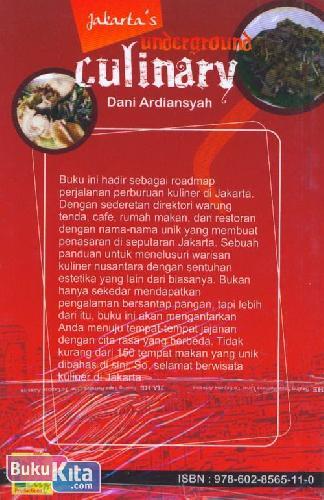 Cover Belakang Buku Jakarta's Underground Culinary