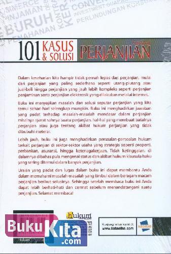 Cover Belakang Buku 101 Kasus & Solusi tentang PERJANJIAN (Panduan Cerdas Menyikapi Hukum dalam Perjanjian)