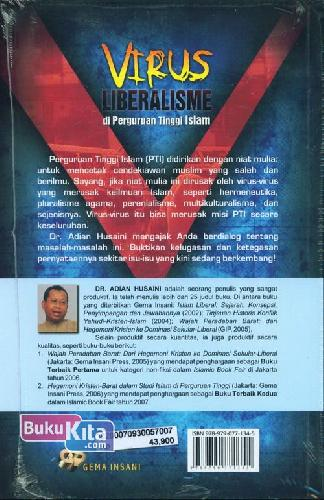 Cover Belakang Buku VIRUS LIBERALISME di Perguruan Tinggi Islam