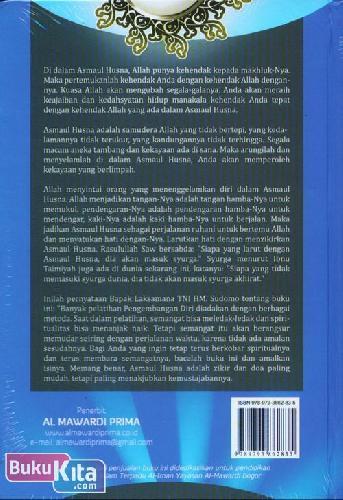 Cover Belakang Buku Asmaul Husna : Perjalanan Ruhani Menyatukan Hati Dengan Allah