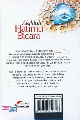 Cover Belakang Buku Ajaklah Hatimu Bicara