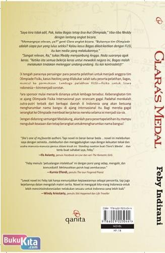 Cover Belakang Buku Clara's Medal (Sebuah Novel tentang seMESTA menduKUNG)