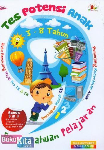 Cover Buku Tes Potensi Anak : Pengetahuan Pelajaran (Full Picture & Full Color)
