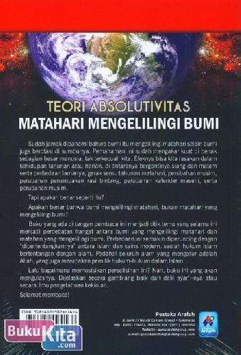 Cover Belakang Buku Teori Absolutivitas : Matahari Mengelilingi Bumi