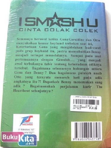Cover Belakang Buku I Smash U: Cinta Colak Colek