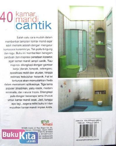 Cover Belakang Buku 40 kamar Mandi Cantik