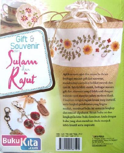 Cover Belakang Buku Gift & Souvenir dari Sulam dan Rajut