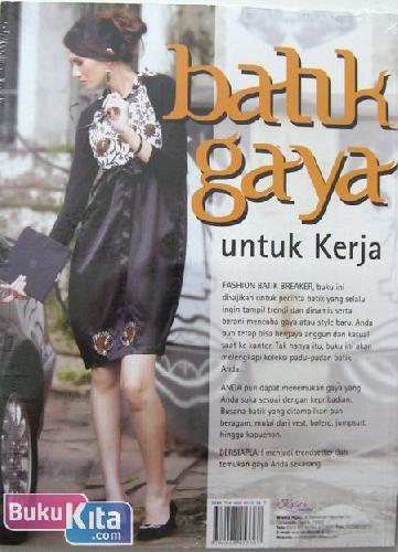 Cover Buku Batik Gaya untuk Kerja