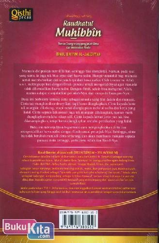 Cover Belakang Buku Raudhatul Muhibbin : Taman Orang-orang yang Jatuh Cinta dan Memendam Rindu