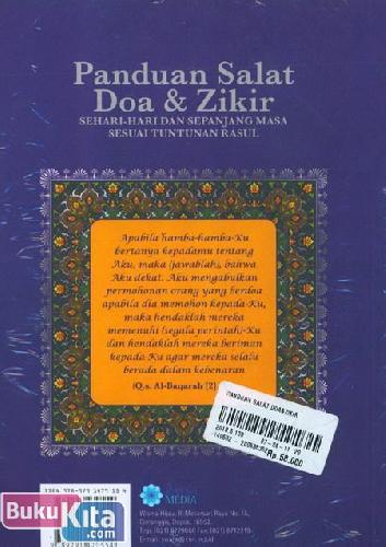 Cover Belakang Buku Panduan Salat Doa & Zikir : Sehari-Hari dan sepanjang Masa Sesuai Tuntunan Rasul