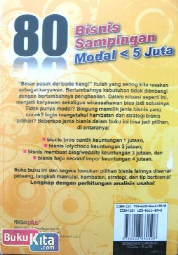 Cover Belakang Buku 80 Bisnis Sampingan Modal < 5 Juta