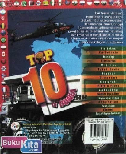 Cover Belakang Buku Top 10 di Dunia - Amazing Up to Date