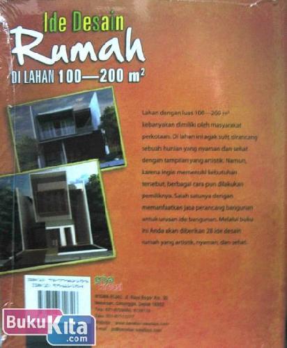 Cover Belakang Buku Ide Desain Rumah di Lahan 100-200 m2