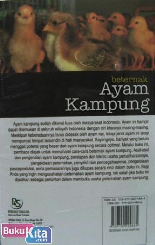 Cover Belakang Buku Beternak Ayam Kampung