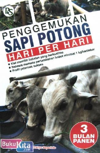 Cover Buku Penggemukan Sapi Potong Hari Per Hari