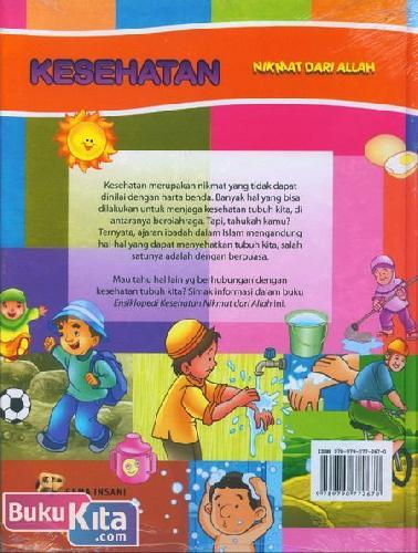 Cover Belakang Buku Ensiklopedia Anak Muslim 12 : Kesehatan Nikmat dari Allah