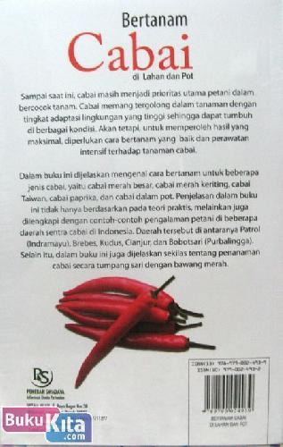 Cover Belakang Buku Bertanam Cabai Di Lahan & Pot
