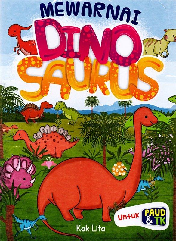 Cover Belakang Buku Mewarnai Dinosaurus