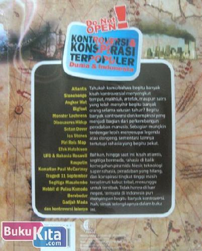 Cover Belakang Buku Do Not Open! Kontroversi & Konspirasi Terpopuler Dunia & Indonesia