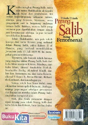 Cover Belakang Buku Tokoh-Tokoh Perang Salib Paling Fenomenal - dari Kubu Islam dan Kristen
