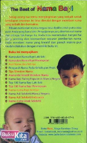 Cover The Best of Nama Bayi
