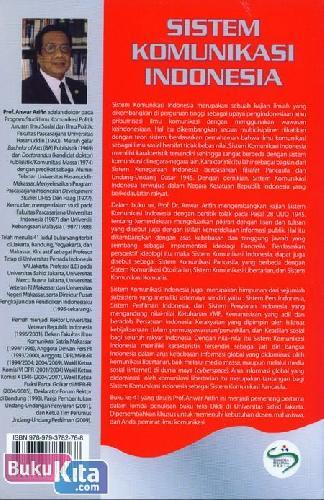 Cover Belakang Buku Sistem Komunikasi Indonesia