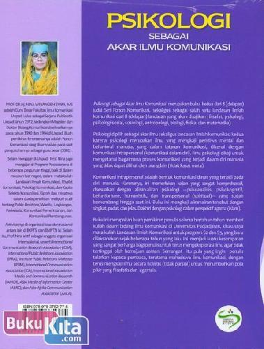 Cover Belakang Buku Psikologi Sebagai Akar Ilmu Komunikasi