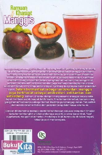 Cover Belakang Buku Ramuan & Khasiat Kulit Manggis